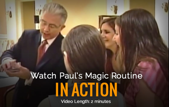 Paul Gertner Scrolling/Reception & Close-Up Magic Demo Video